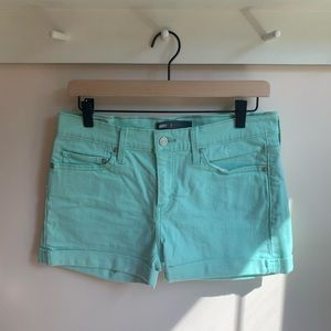 Levi's colored jean shorts